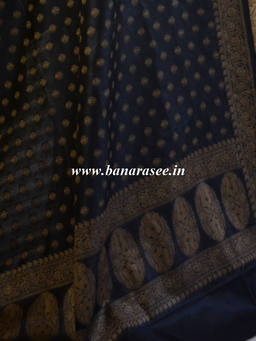 Banarasee Cotton Mix Ghichha Work Salwar Kameez Fabric With Black Dupatta-Beige