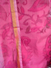 Banarasee Cotton Salwar Kameez Printed Fabric-Deep Pink