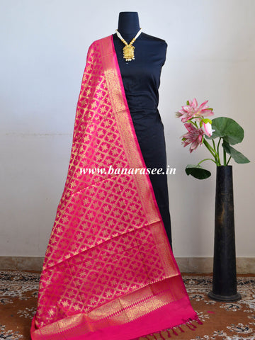 88a4b451b8b4 Banarasee Art Silk Dupatta With Jaal Design-Hot Pink