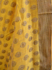 Banarasee Salwar Kameez Soft Cotton Ghicha Jaal Fabric & Dupatta-Red & Yellow