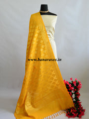 Banarasee Art Silk Dupatta With Drop Motif Design-Yellow