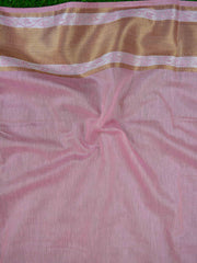 Banarasee Handloom Chanderi Buta Design Saree-Baby Pink