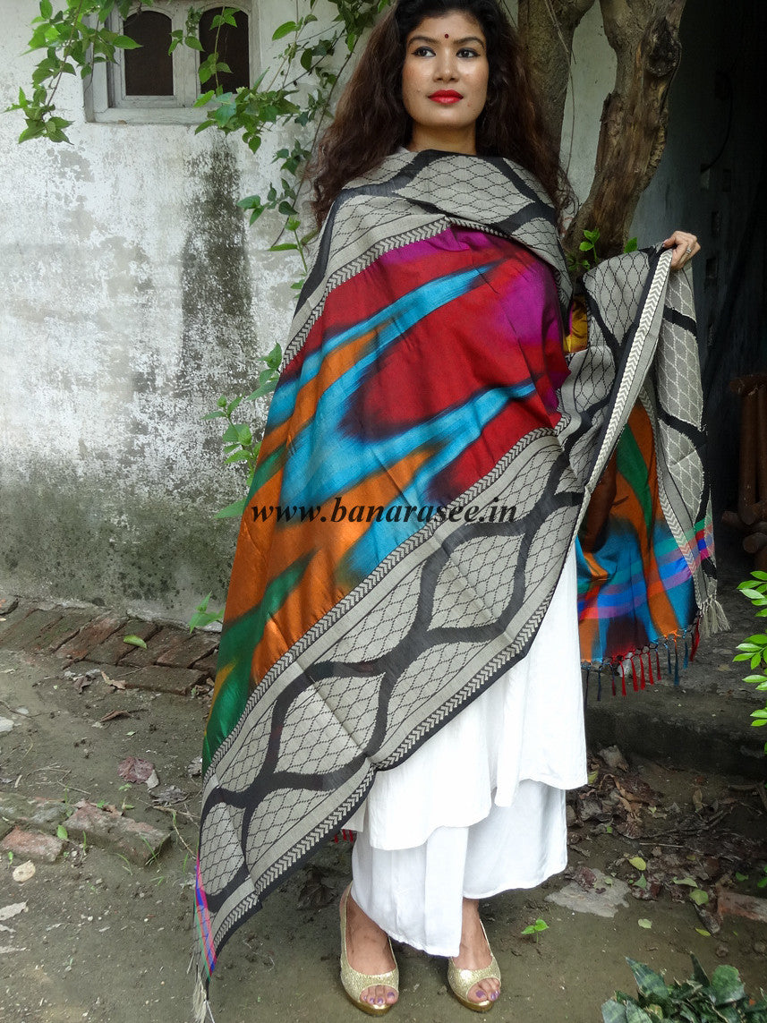 Banarasi Cotton Multicoloured Patterned Dupatta