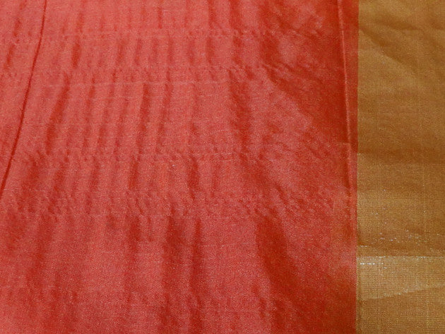 Banarasee Cotton Mix Patola with Resham Work- Rust