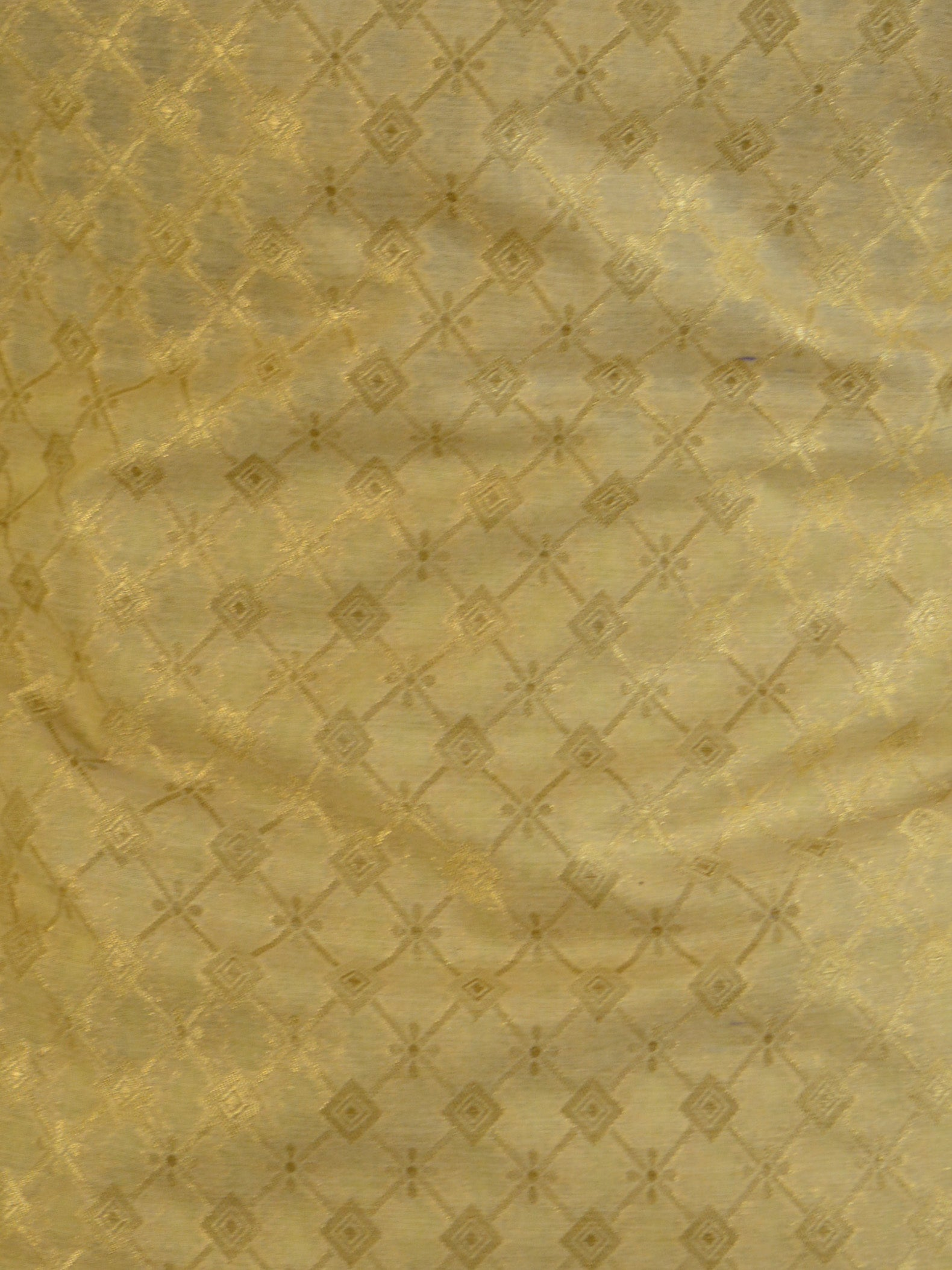 Banarasee Handloom Chanderi Salwar Kameez Fabric With Dupatta-Beige