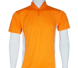 2 Tone Zipped Mandarin Polo - UNISEX - Arcade Sports