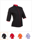 119 Female 3/4 Sleeve Button Top - - Arcade Sports