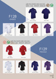 128 Unisex & 129 Female Short Sleeve Button Top - Arcade Sports