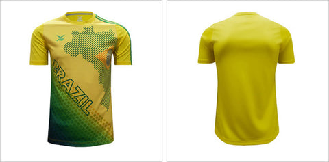 BRAZIL WORLD CUP SUPPORTER JERSEY TEE - FIFA WORLD CUP 2018 - Arcade Sports