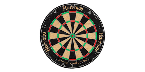 Harrows Official Competition Dartboard - Arcade Sports
