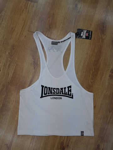 LONSDALE Y-back Muscle Fit Gym Tank Top Vest/Singlet