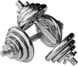 Chrome Dumbell Set 10KG Adjustable + - Arcade Sports