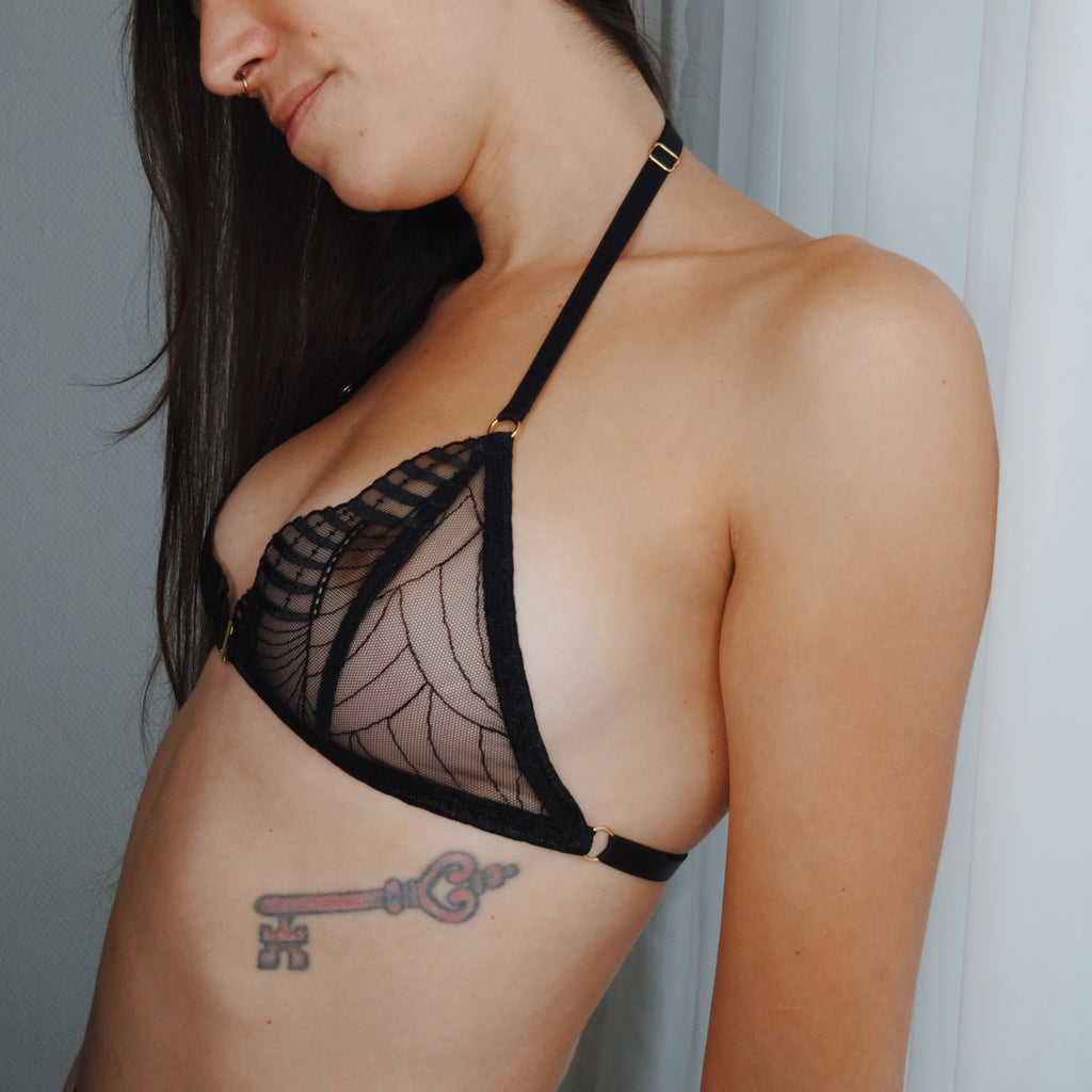 Noemie Triangle Bra (Black)