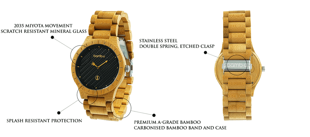 Lanta Bamboo Watch