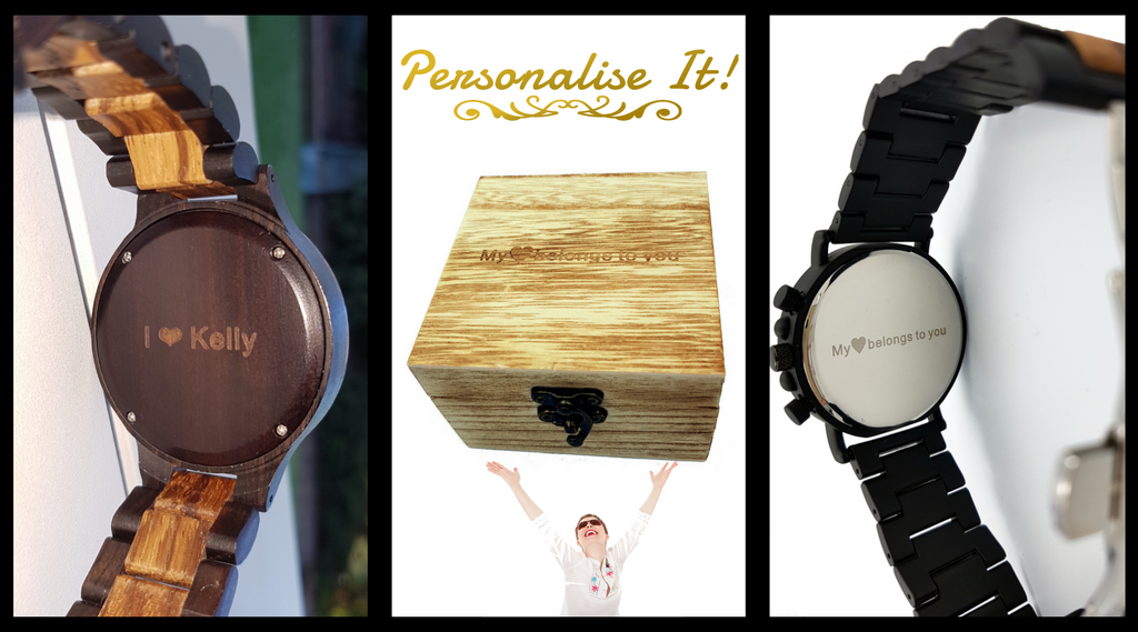 personalised wooden watches
