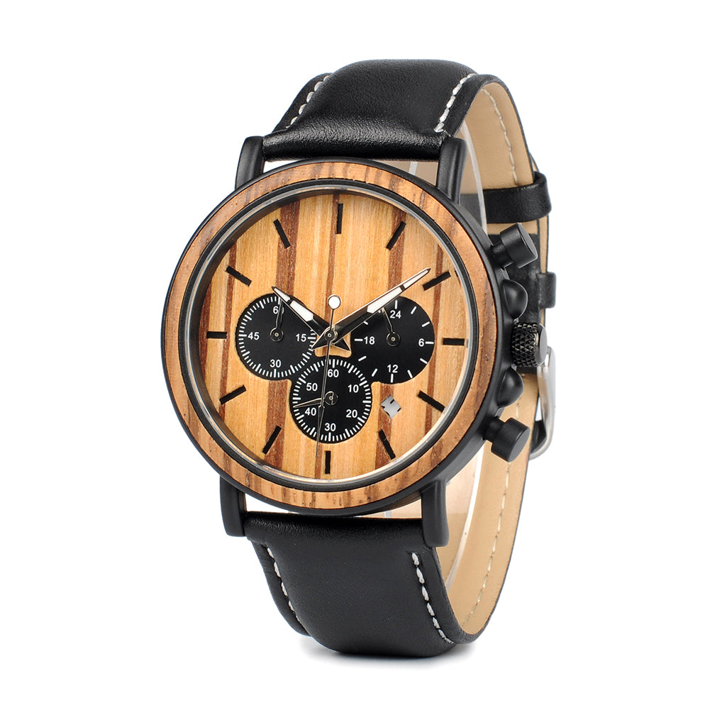 Tatum - Wooden Watch - Personalised Option