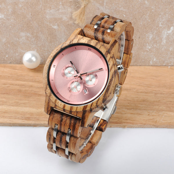 Holiday - Wooden Watch - Personalised Option