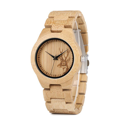 Wapiti - Bamboo Watch - Personalised Option