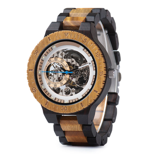 Kewell - Mechanical Wooden Watch