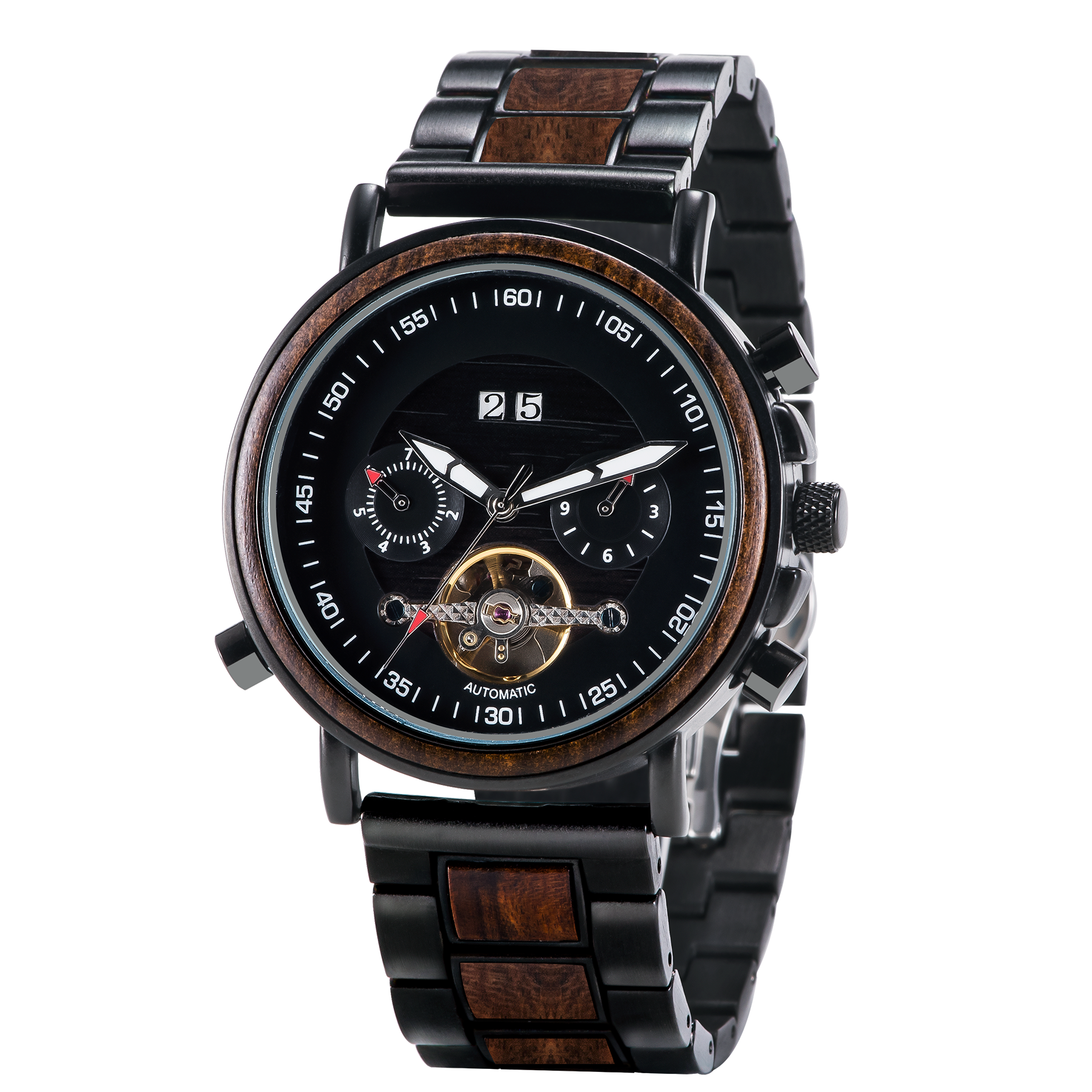 Mr. Smith - Mechanical Wooden Watch