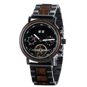 Mrs. Smith - Mechanical Wooden Watch
