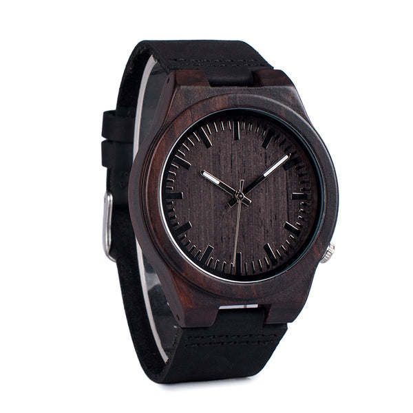 Ebony - Wooden Watch - Personalised Option