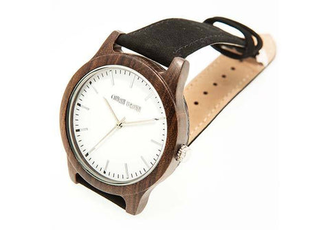 Wooden Watch - Brando – Black Sandalwood And Suede Wooden Watch