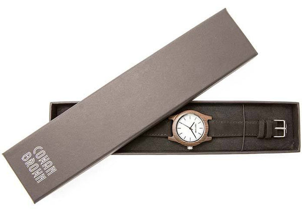 Wooden Watch - Mini Brando – Black Sandalwood And Suede Wooden Watch