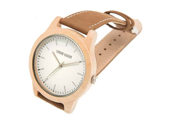 Wooden Watch - Newman – Maple Wood And Suede Wooden Watch