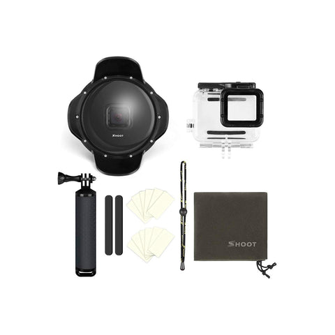 SHOOT GoPro HERO7 HERO6 HERO5 Dome Port with Lens Hood Underwater Photograph