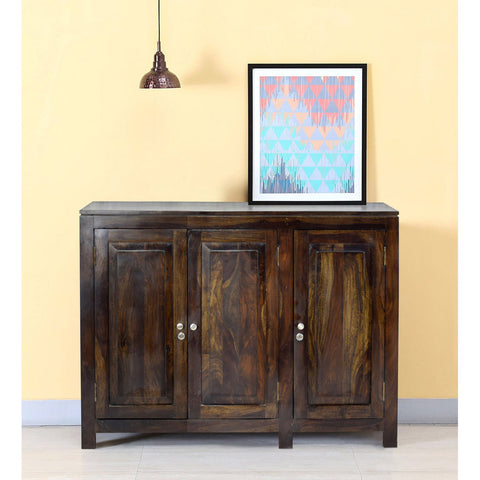 Daintree Sheesham Wood 3 door Danny / Albert side board (Dark Walnut Finish).