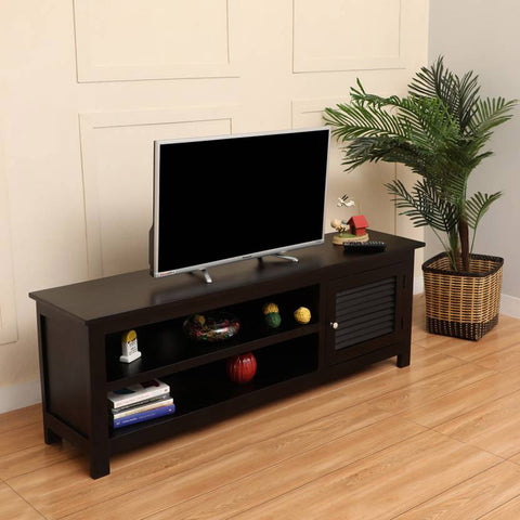 TimberTaste Sheesham Wood DYNA TV Cabinet Dark Walnut Finish.
