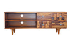 TimberTaste Sheesham Wood ANNA TV Cabinet Natural Teak finish