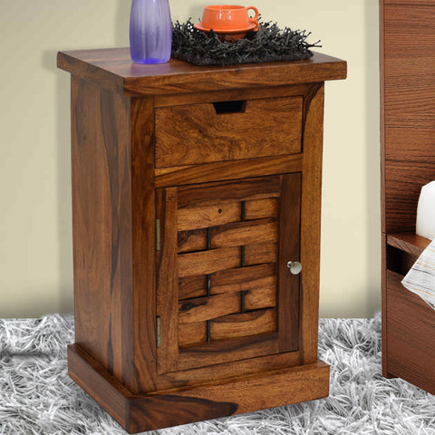 Daintree  Sheesham Wood 1 Draw ALASKA Side End Corner Table Teak finish