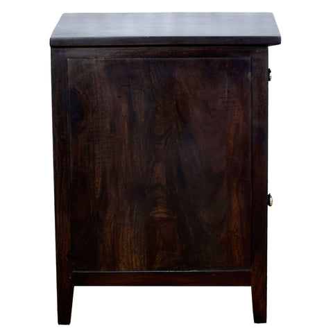 TimberTaste Sheesham Wood CANNY Side Table Dark Walnut Finish