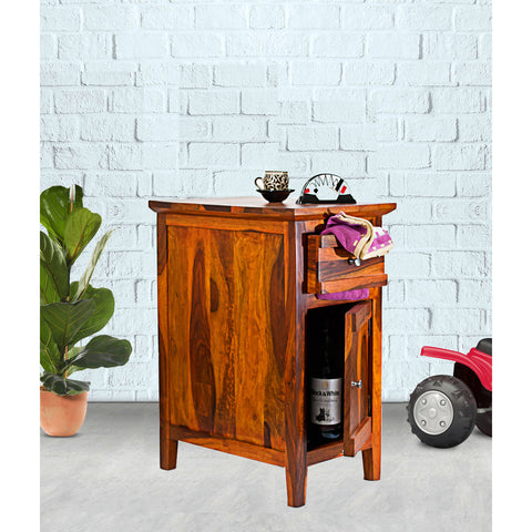 Daintree Sheesham Wood CANNY Side Table Natural Teak Finish