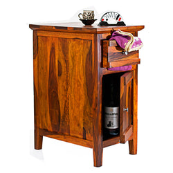 TimberTaste Sheesham Wood CANNY Side Table Natural Teak Finish