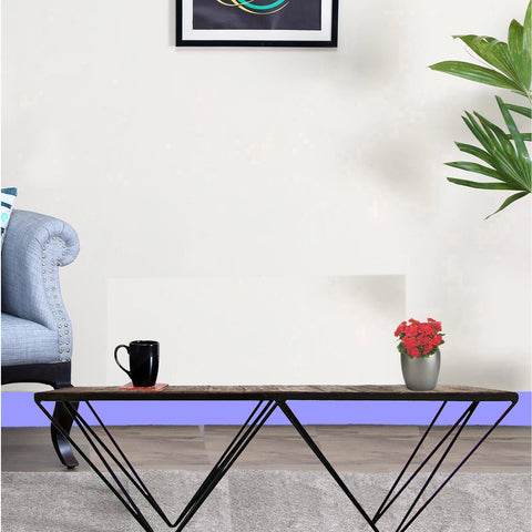 Daintree Rustic Iron Wood CANTI Coffee Table.