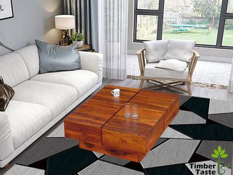 TimberTaste Shesham Wood CENTO Coffee table Natural Teak