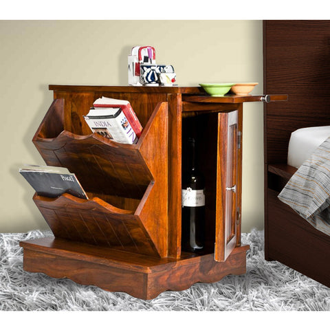 Daintree Sheesham Wood CLARA Side Table Natural Teak Finish