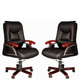 TimberTaste COCO Black Directors, Executive, Boss, conference high back office chair(set of 2).
