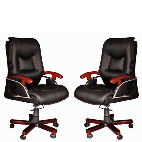 TimberTaste COCO BLACK Directors, Executive, Boss, conference high back office chair.