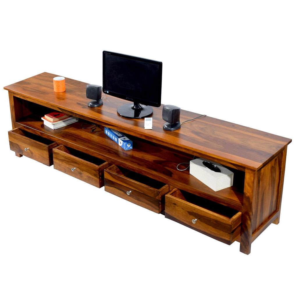 promo code 6e05c a5908 Daintree Solid Sheesham (Rosewood) Wood DOLLY 4 Draw TV ...