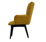 Timbertaste Ditya Antique Yellow Upholstered Lounge Chair