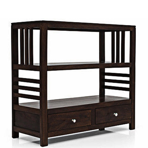 Daintree Sheesham Wood EVA book shelf show case (Dark Walnut Finish).