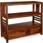 TimberTaste Sheesham Wood EVA book shelf show case (Natural Teak finish).