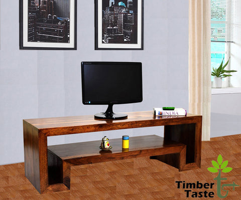 TimberTaste Sheesham Wood HEMA TV Cabinet Natural Teak finish.