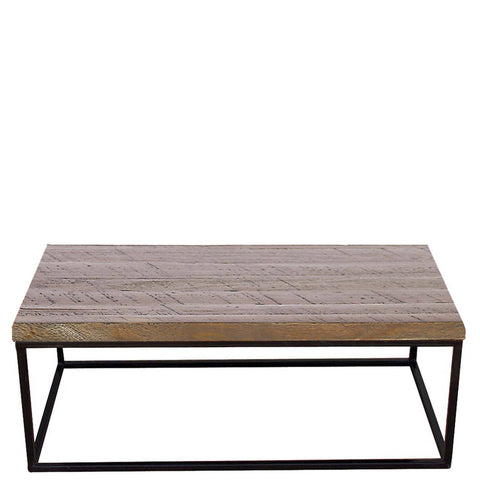 Daintree Rustic Iron Wood INOX Coffee Table