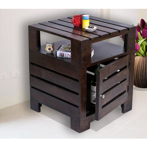 Daintree Sheesham Wood PLANKO Side Table Dark Walnut finish
