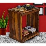 TimberTaste Sheesham Wood ULTRA Side Table Natural Teak finish